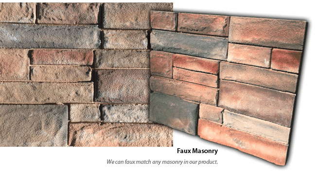 Faux Masonry Sign Monuments - Faux Masonry Match From Physical Sample