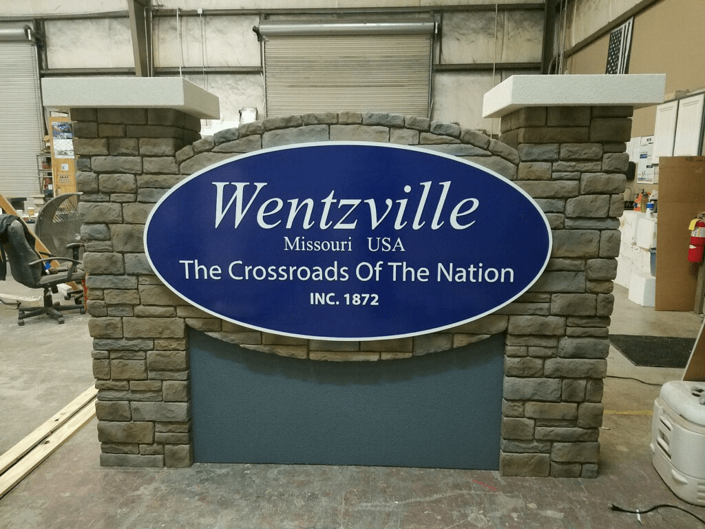 Wentzville, MO break away City Entrance Signs
