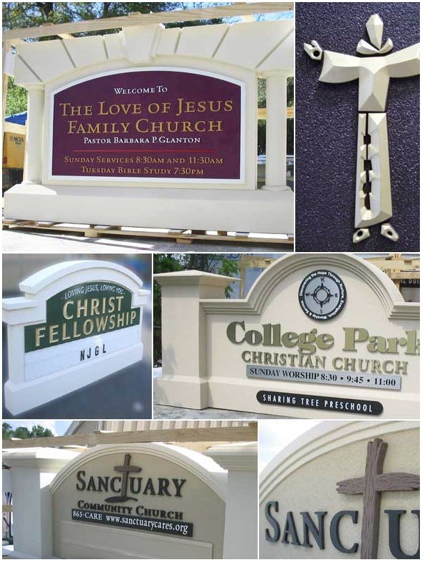 Custom Church Sign Monument - Church Sign Monuments