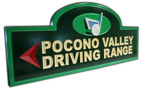 Golf Course Driving Range Sign
