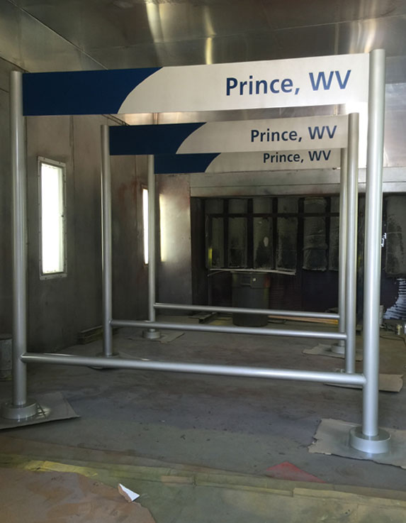 Amtrak Prince, WV Station Markers