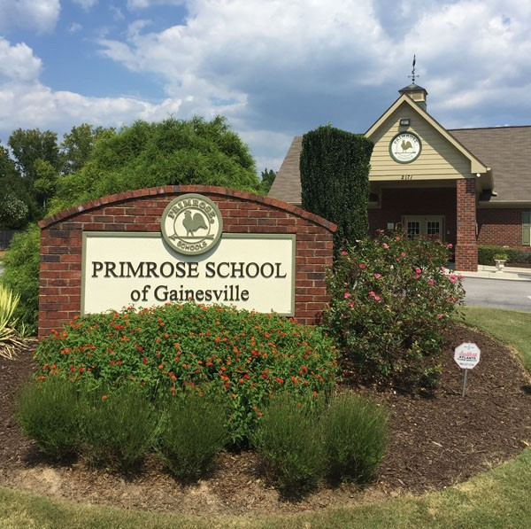 Primrose Schools Sign Monument After - sign monument re-vamp