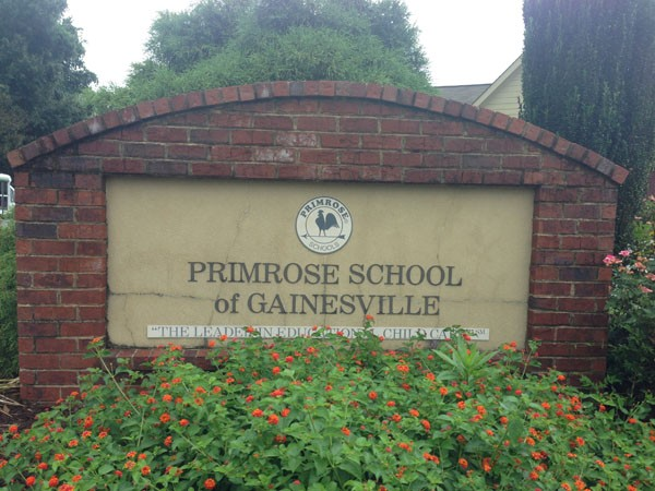 Primrose Schools Sign Monument Before - sign monument re-vamp