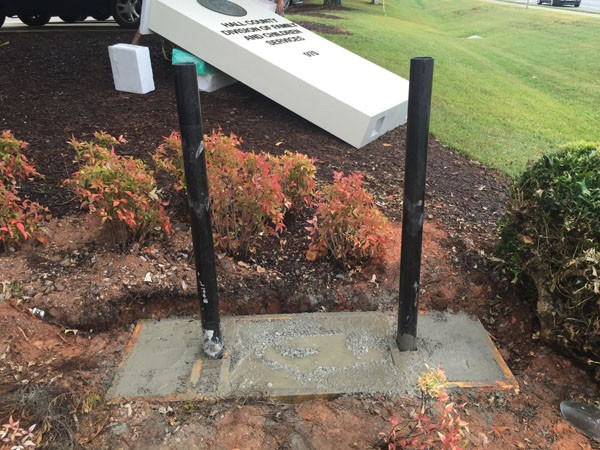 Sign Monument Concrete Slab & Footer Installation - how to install a sign monument