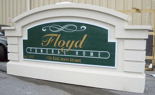 Floyd Funeral Home Monument Signs