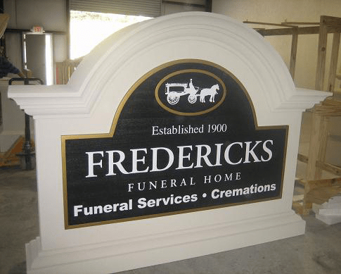 Fredericks Funeral Home & Cremations Sign Monument
