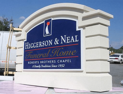 Higgerson & Neal Funeral Home Sign Monument