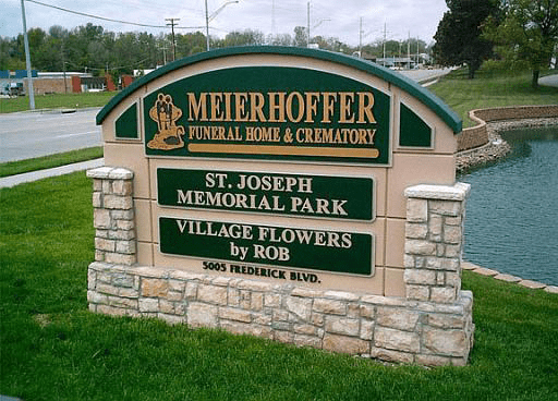 Meierhoffer Funeral Home Monument Signs