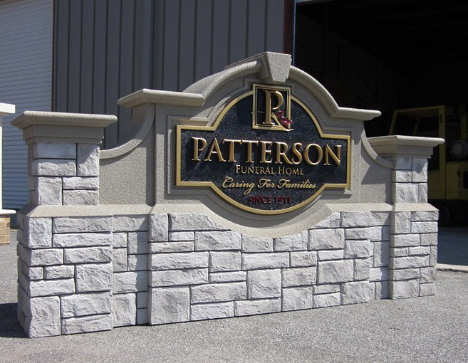 Patterson Funeral Home Monument Signs