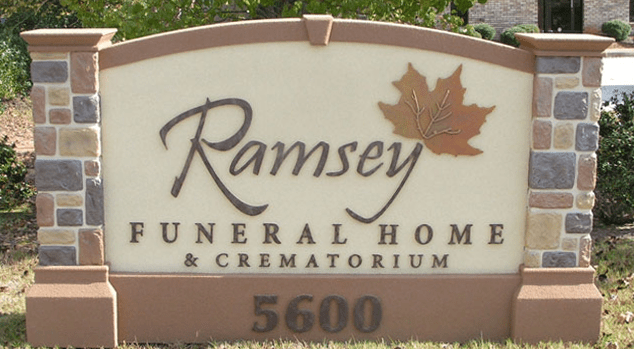 Ramsey Funeral Home Monument Signs