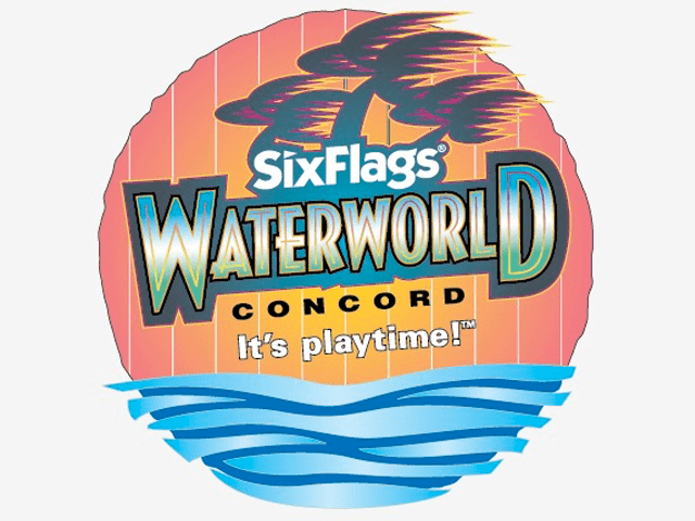 Six Flags Theme Park Waterworn Ride Sign Design - Theme Park Signs