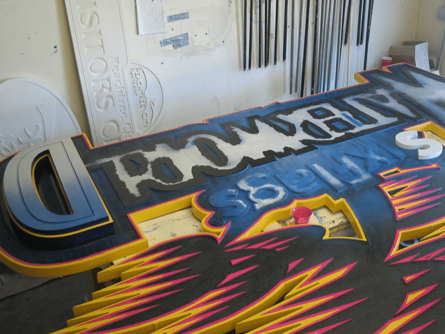 Six Flags Theme Park Waterworld Ride Sign In Production 1