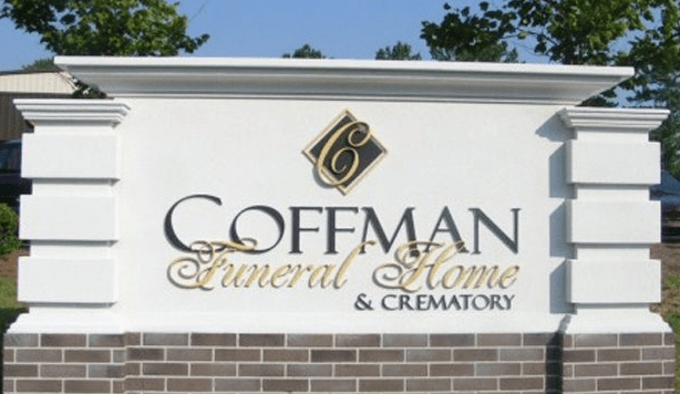 Coffman Funeral Home Monument Signs