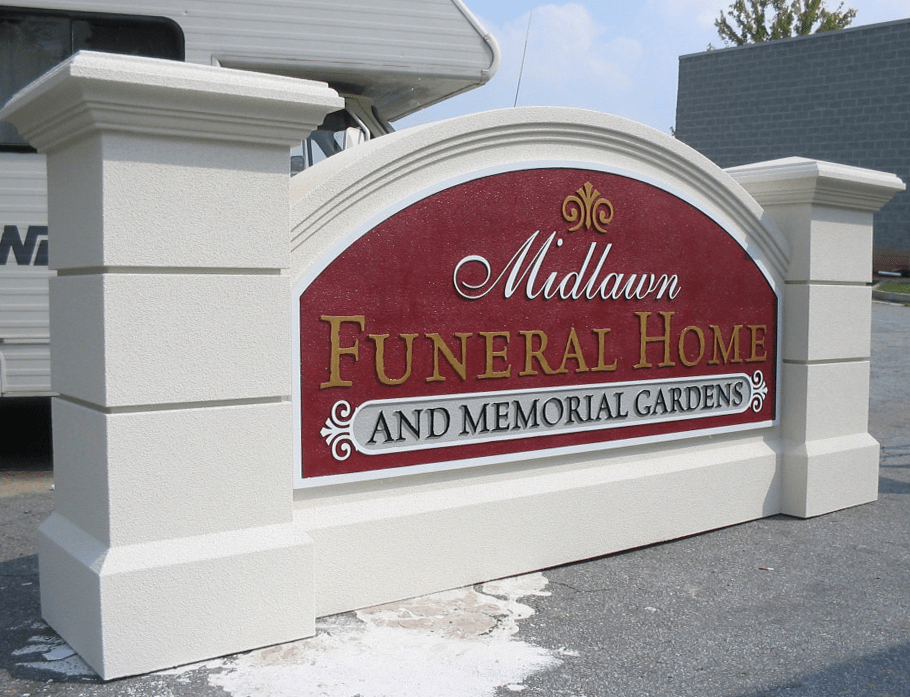 Midtown Funeral Home Memorial Gardens Sign Monument