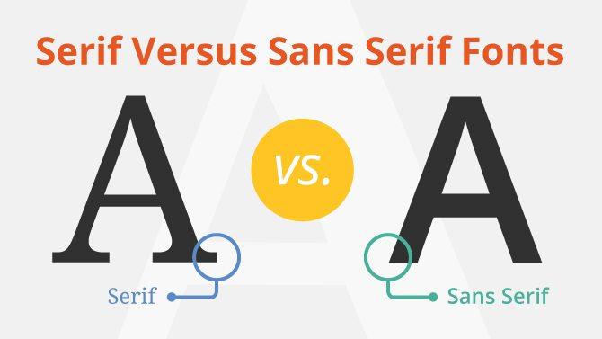 Serif Font Versus Sans Serif Font