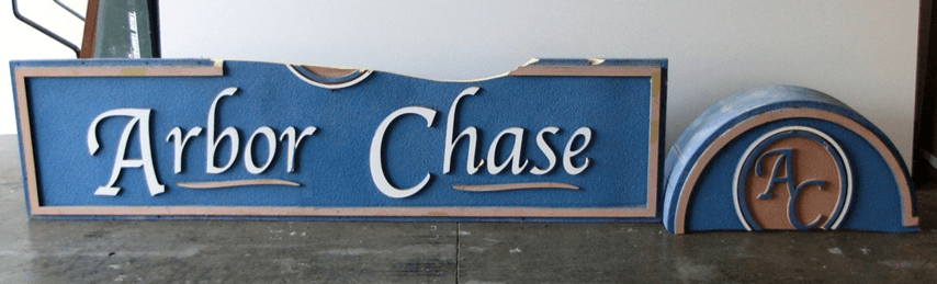 Custom wood signs do not last. Broken High Density Urethane (HDU) Sign cracked and faded after short-term use.