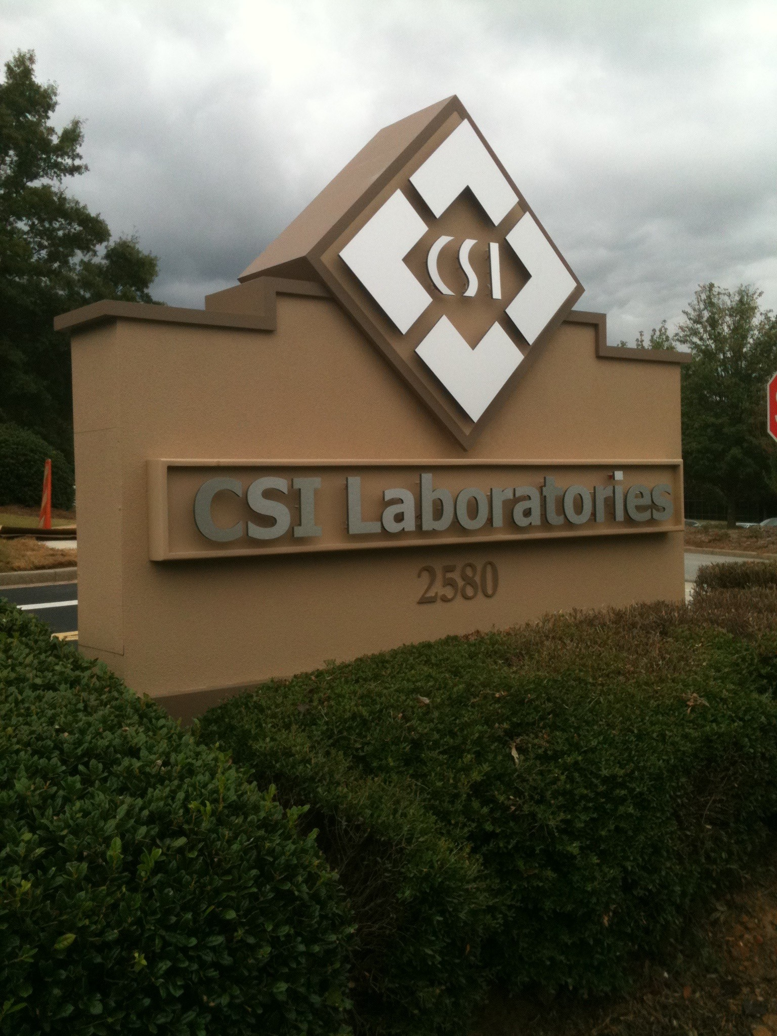 Commercial Business Sign with LED Strand Lights - Day Time View