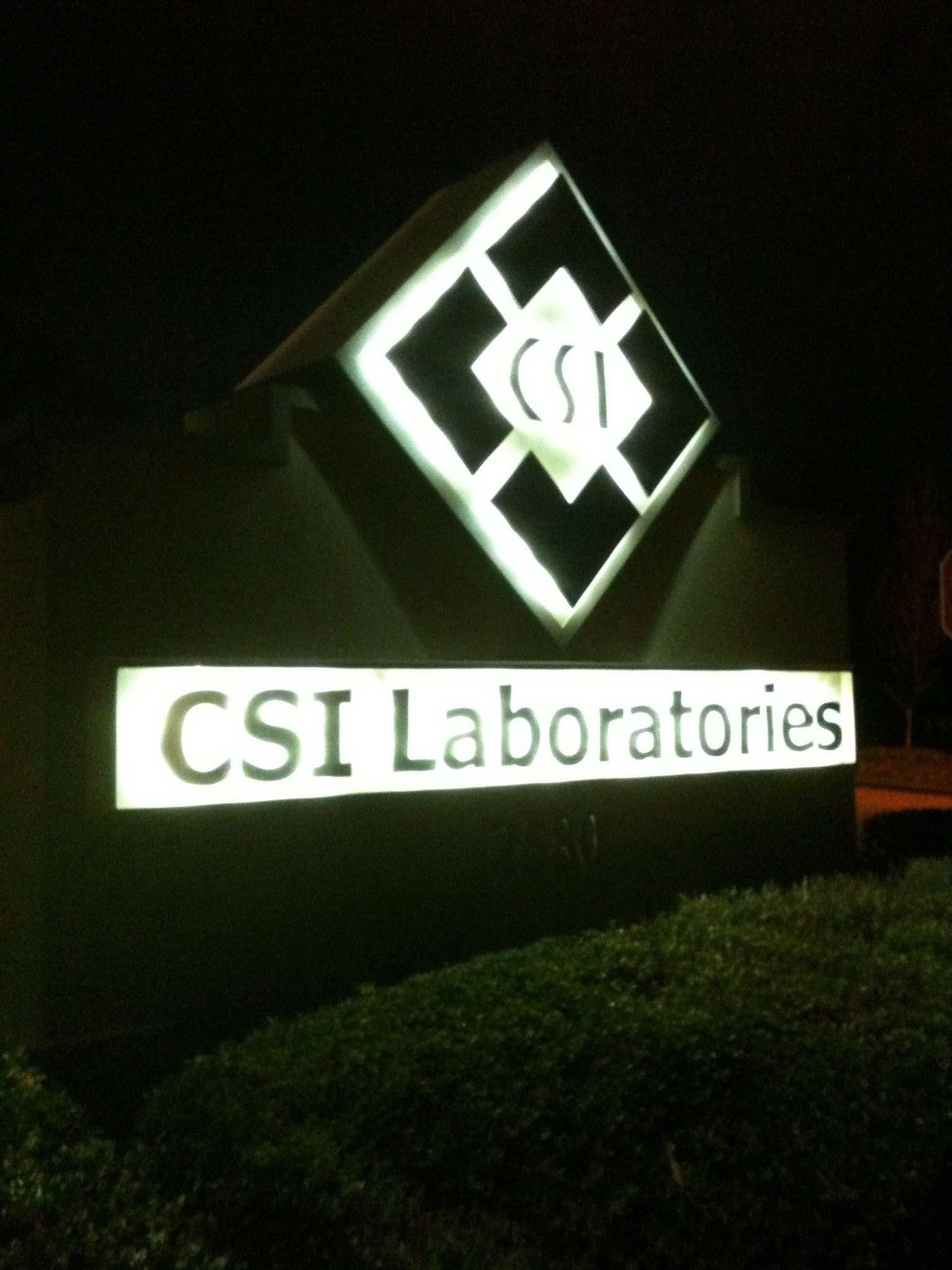 Commercial Business Sign with LED Strand Lights - Night Time View