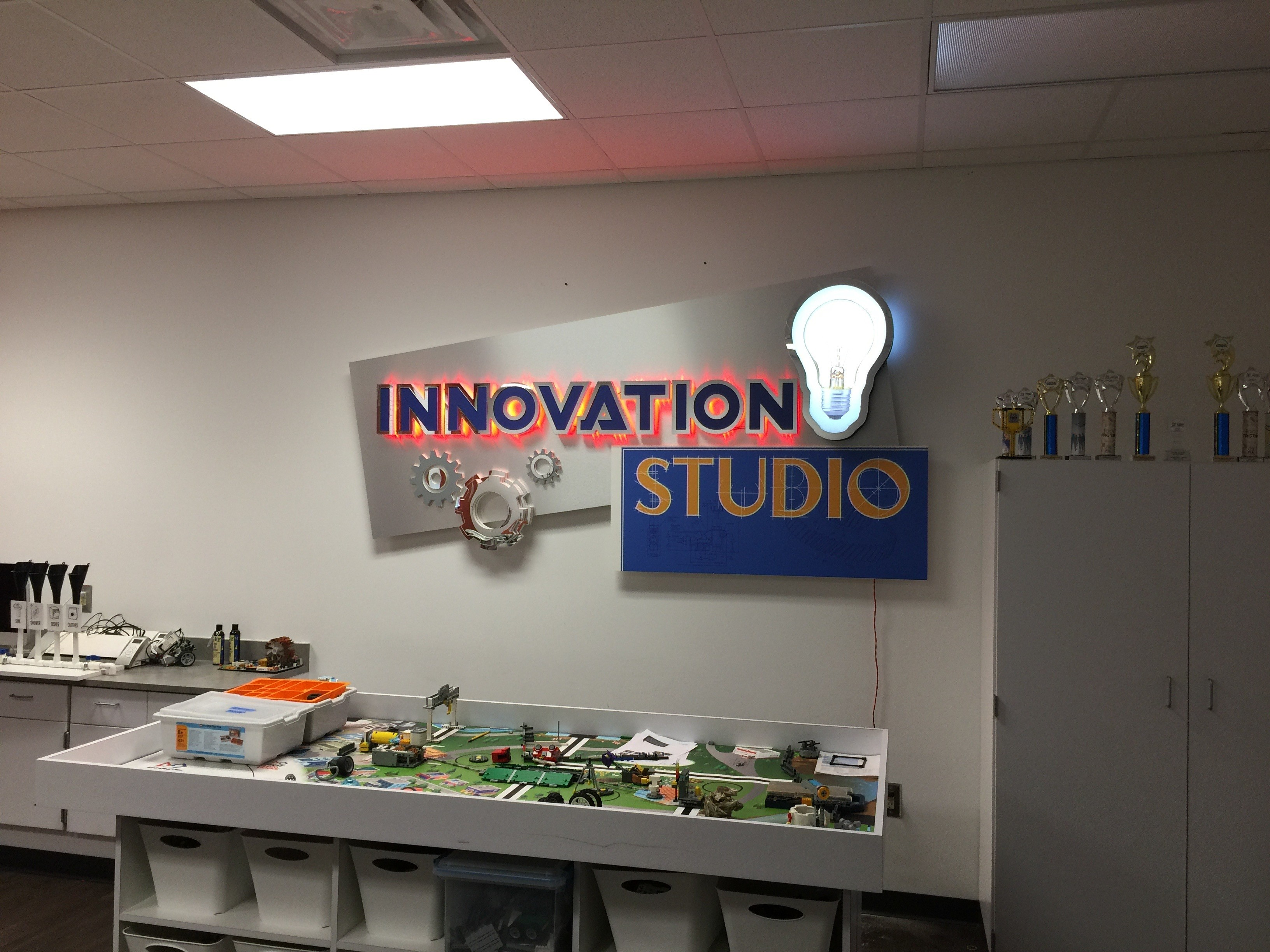 Lakeview Robotics Innovation Studio Sign ON