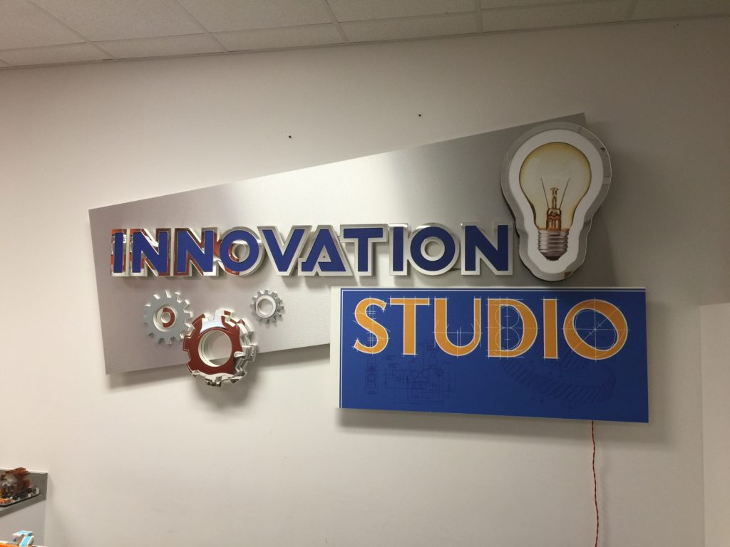 Lakeview Robotics Innovation Studio Sign OFF - Back-lit LED Letters
