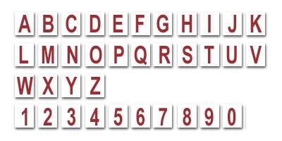 Changeable Reader Board Letters