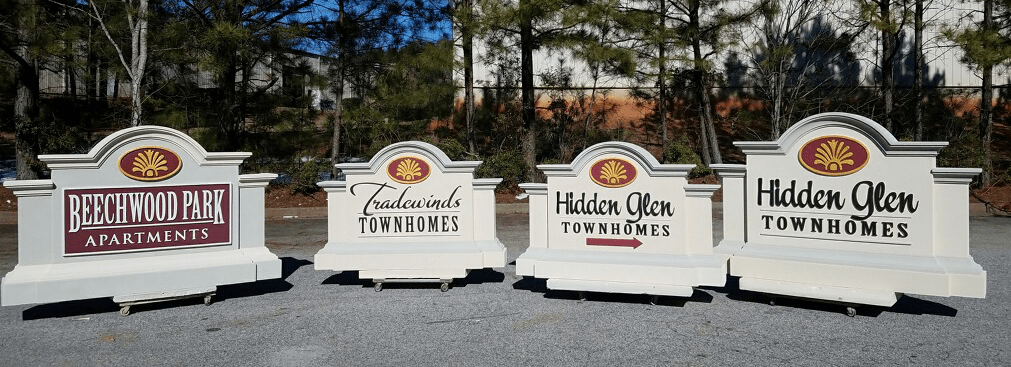 Beechwood Park Tradewinds Townhomes and Hidden Glen - Custom Subdivision Entrance Signs