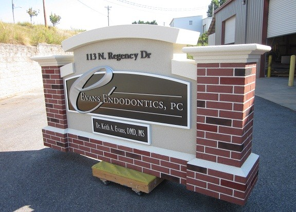 Endodontics Entrance Monument - Neighborhood Entrance Sign Costs