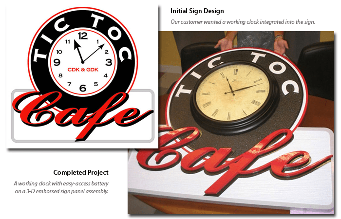 Unique Sign Design Projects Tic Toc
