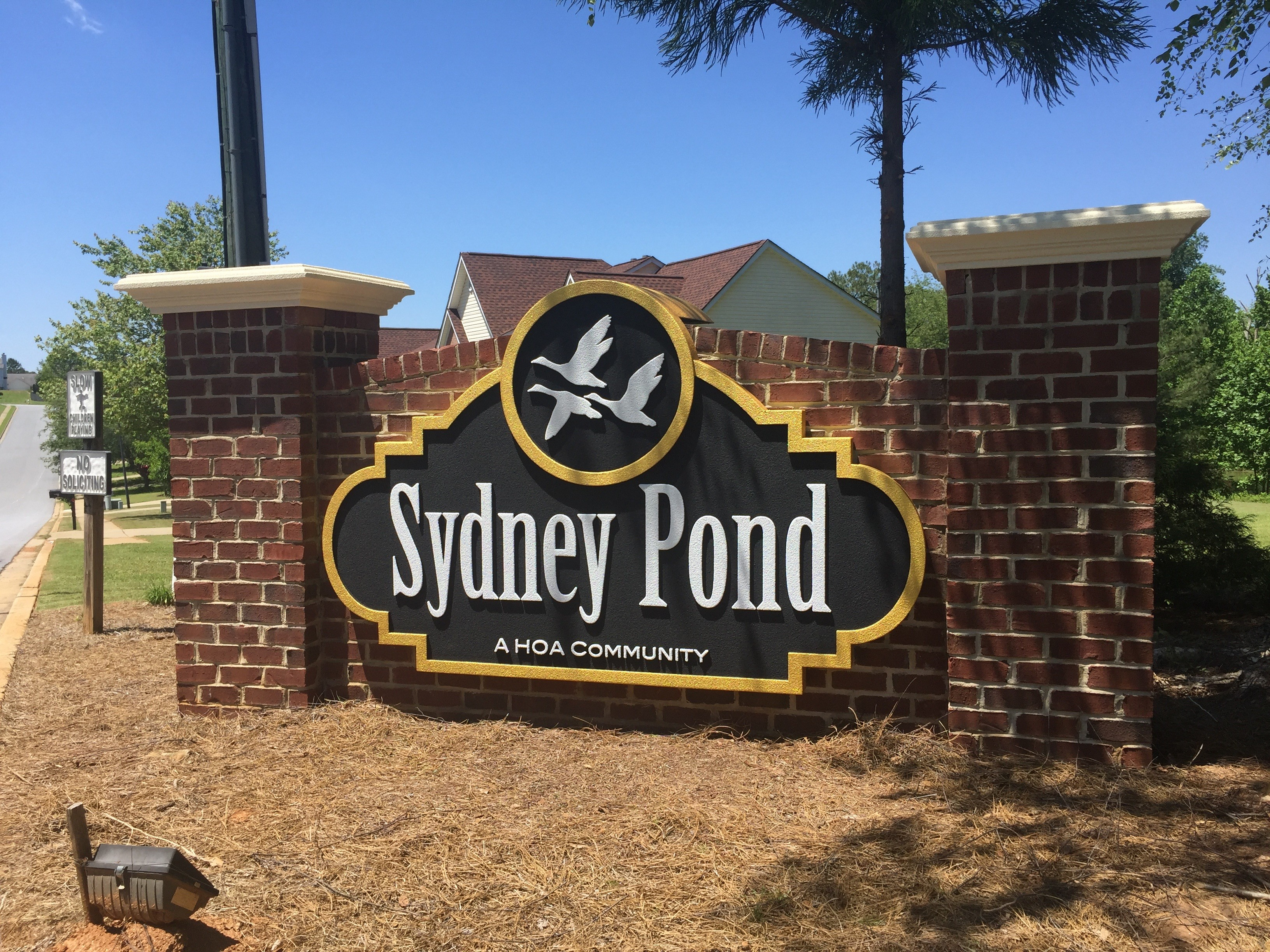 Updated Neighborhood Entrance Sign Monument