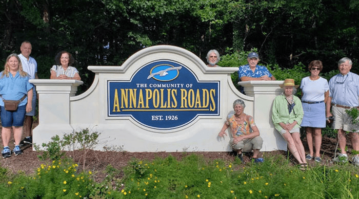 Annapolis Roads Sign Monument Homeowner Installed