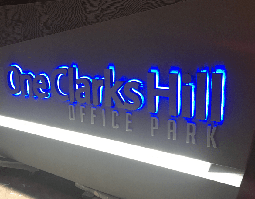 Back-lit LED Letters - Blue Halo