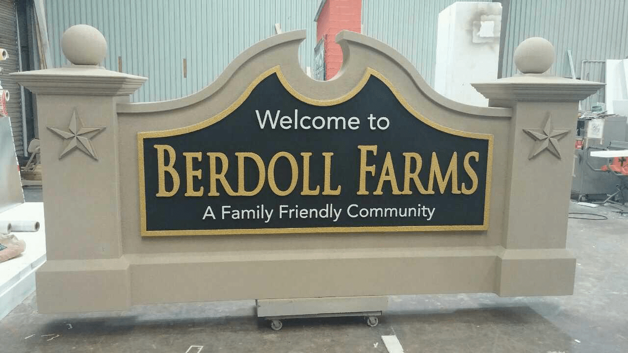 Berdoll Farms Entrance Sign Monument