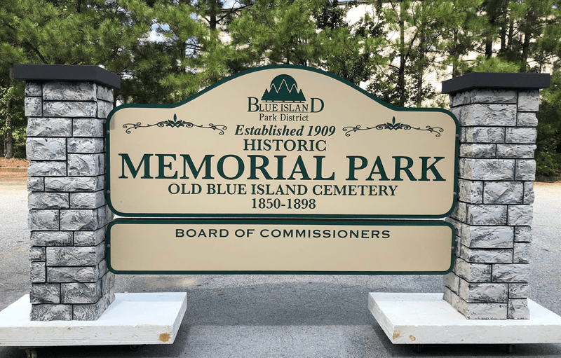 Blue Island Park District Entrance Sign - ColorCore Graphics