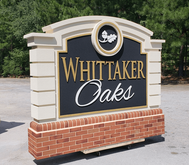 Break-Away Monument Signs Whittaker Oaks