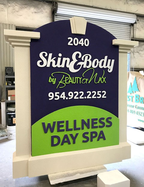 Monument Signs For Business - Beauty of Wax