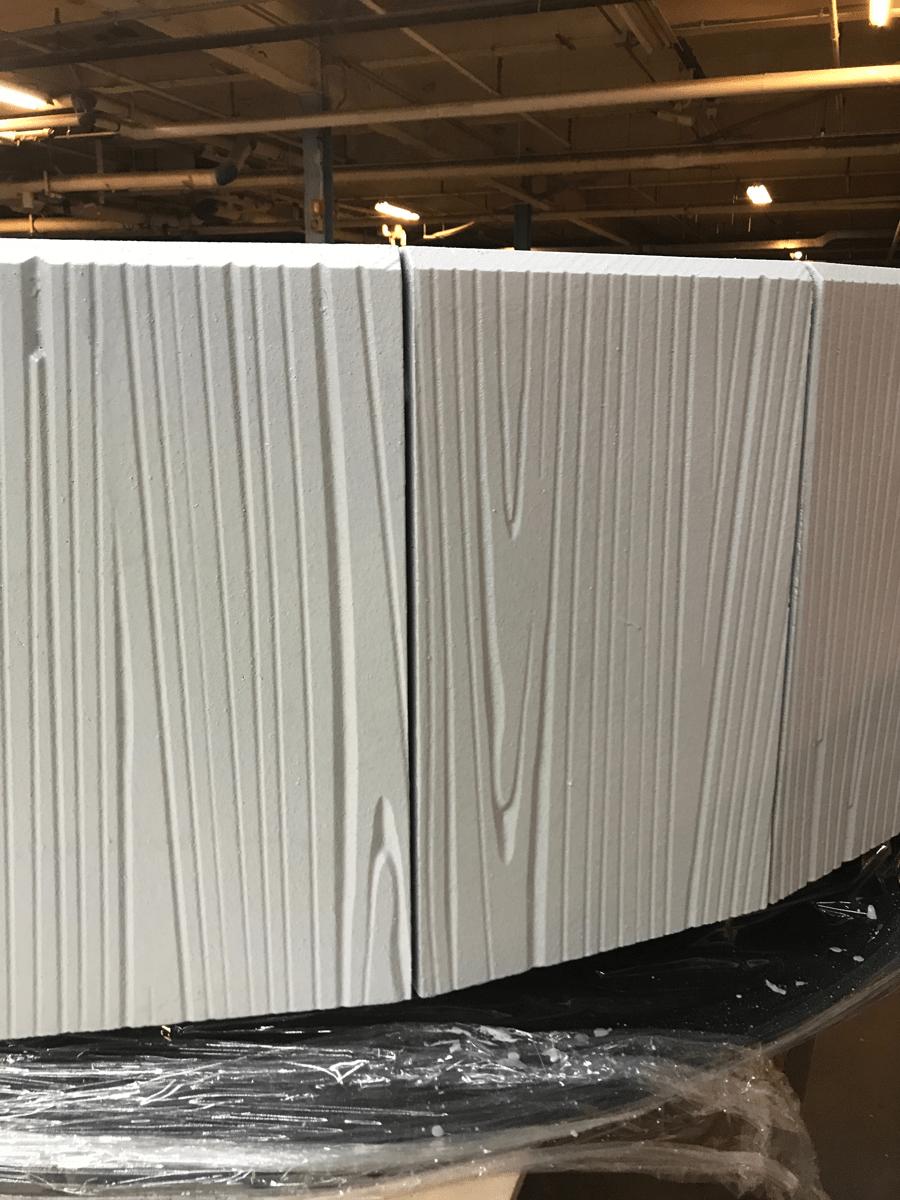 CORAFOAM CNC Routed Wood Grain Pattern