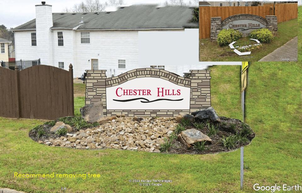 Chester Hills Landscape Concept