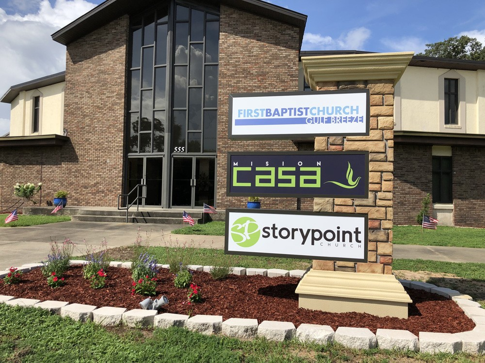 Outdoor Lighted Church Signs - Story Point Church