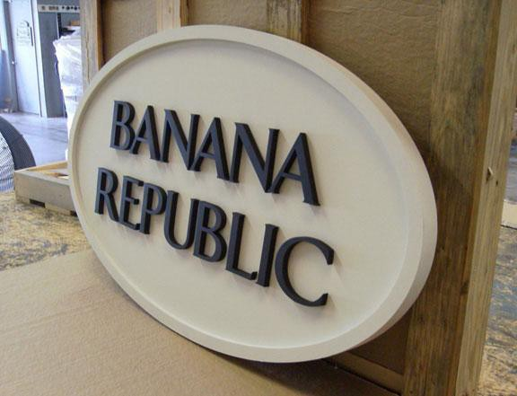 Custom Business Signs Banana Republic
