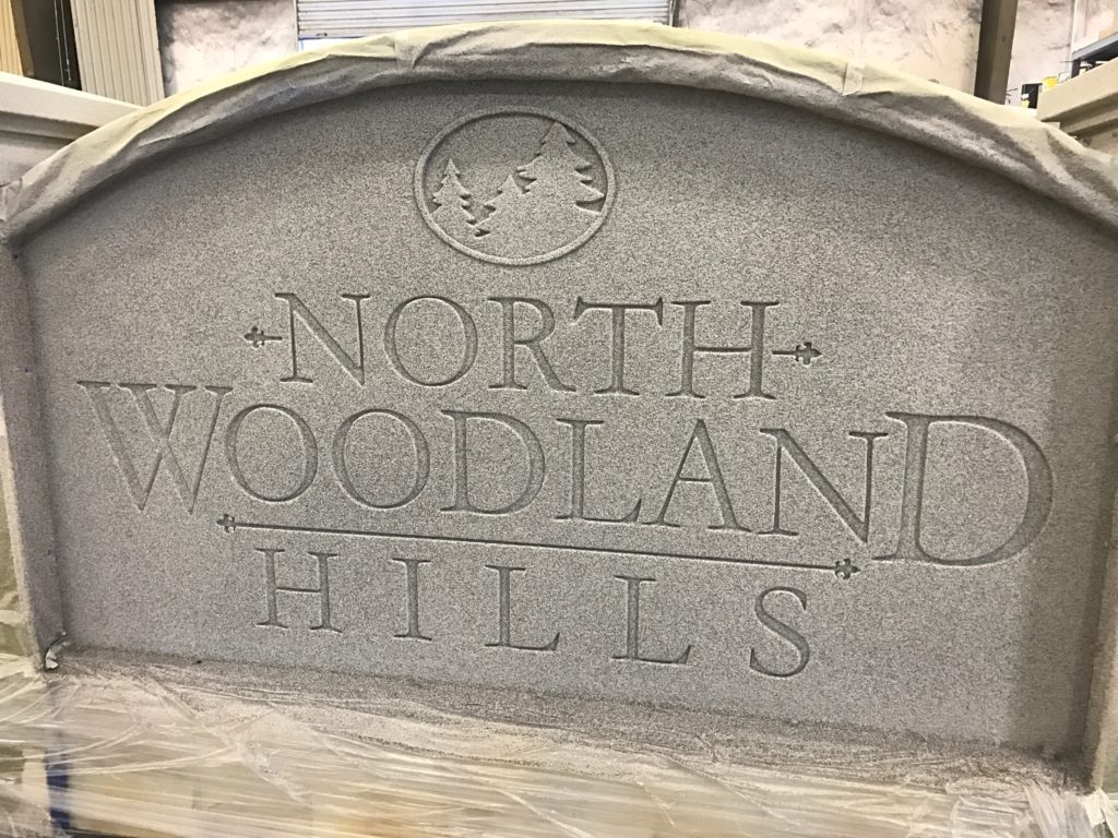 Sign Monuments Faux Granite - North Woodland Hills