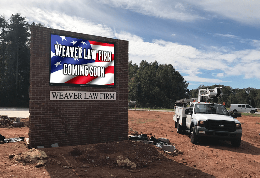 Full Color Sign Monument Project Installed