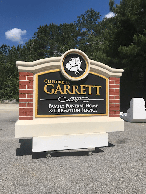 Garrett Funeral Home Sign Monument