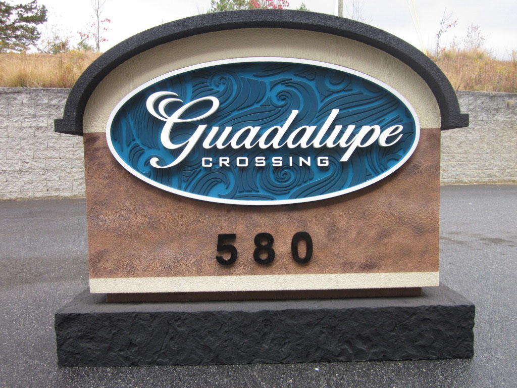 Guadalupe Sign Monument Complete Before Shipping