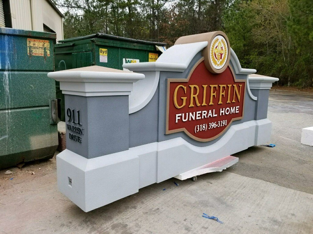 Griffin Funeral Home Monument Signs