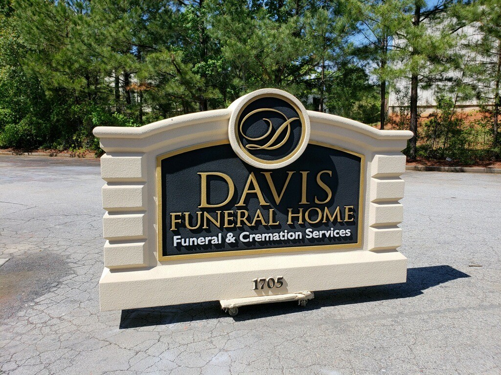 Davis Funeral Home Monument Signs