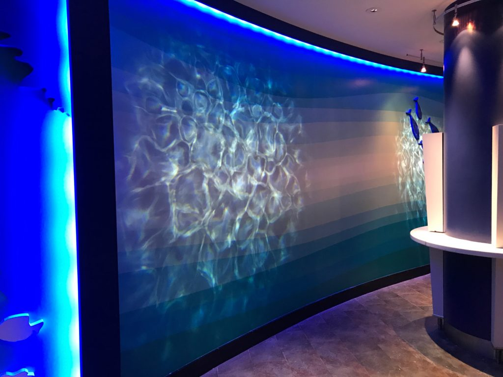 GA Aquarium Lounge Graphics - Animated Wall Lighting