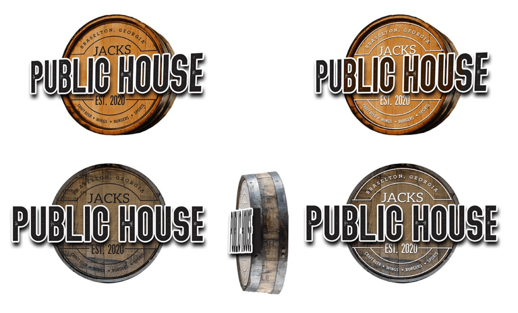 Jacks Public House Initial Sign Design Ideas