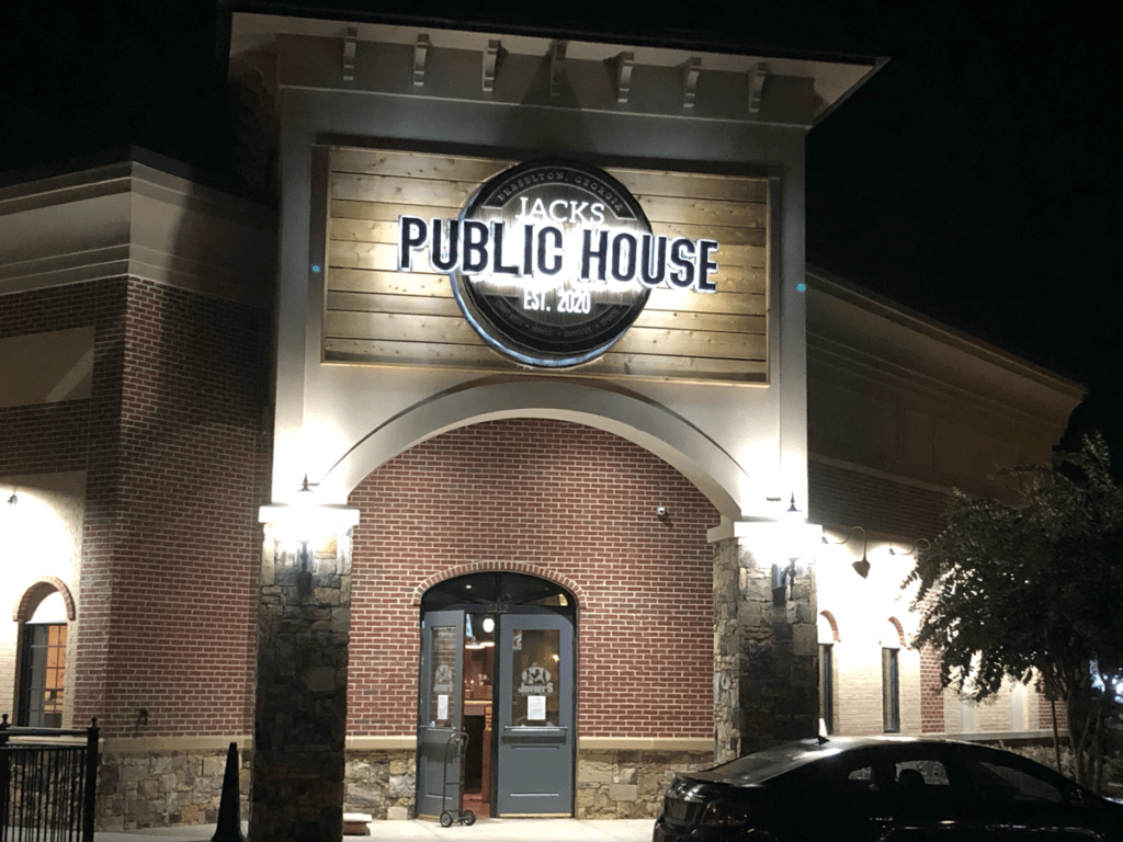 Jacks Public House Restaurant  - Night Time View