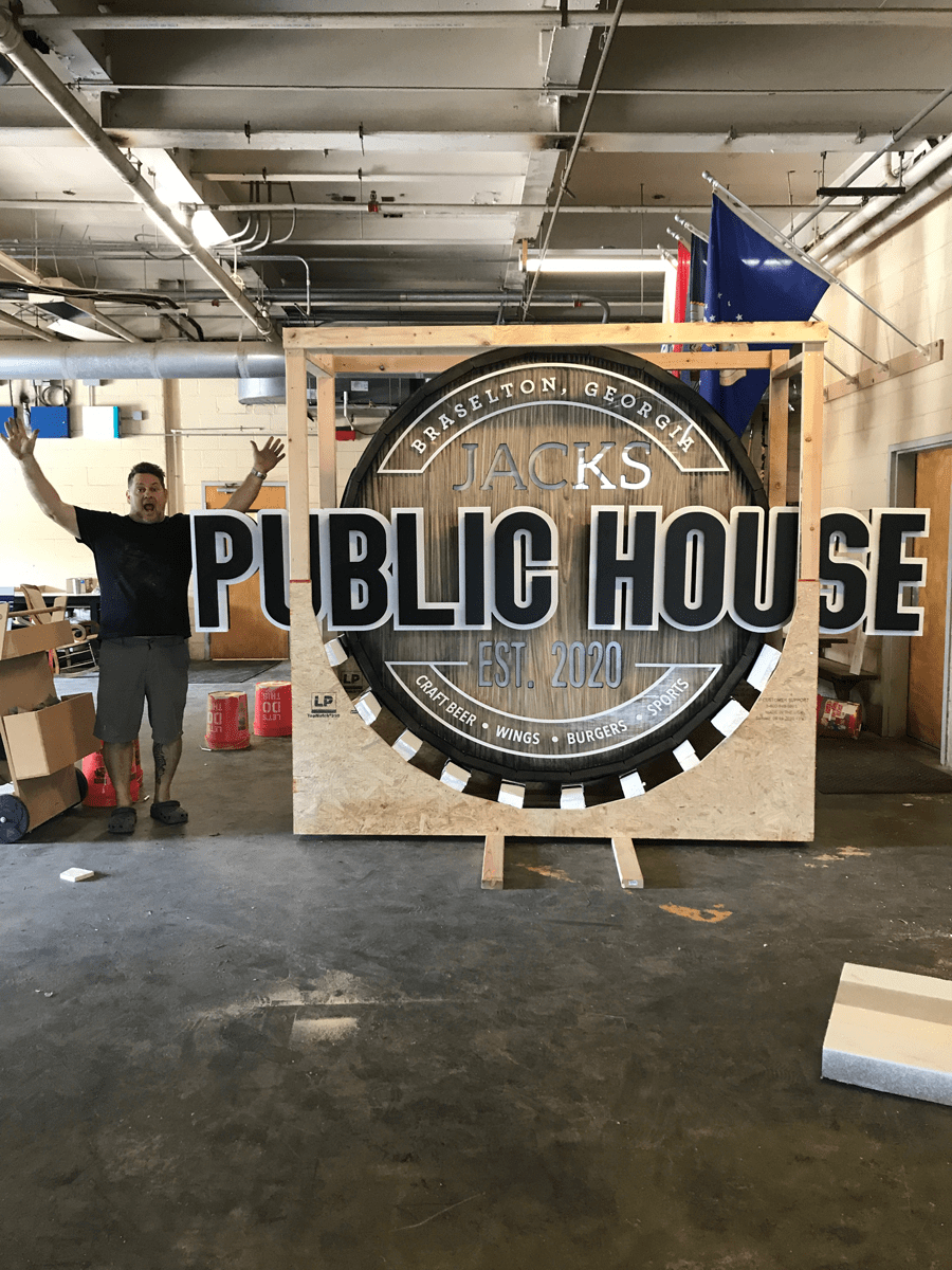 Jacks Public House Sign Scale