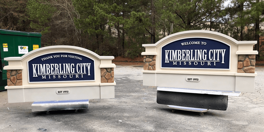 Kimberling City Sign Monuments Before Shipping